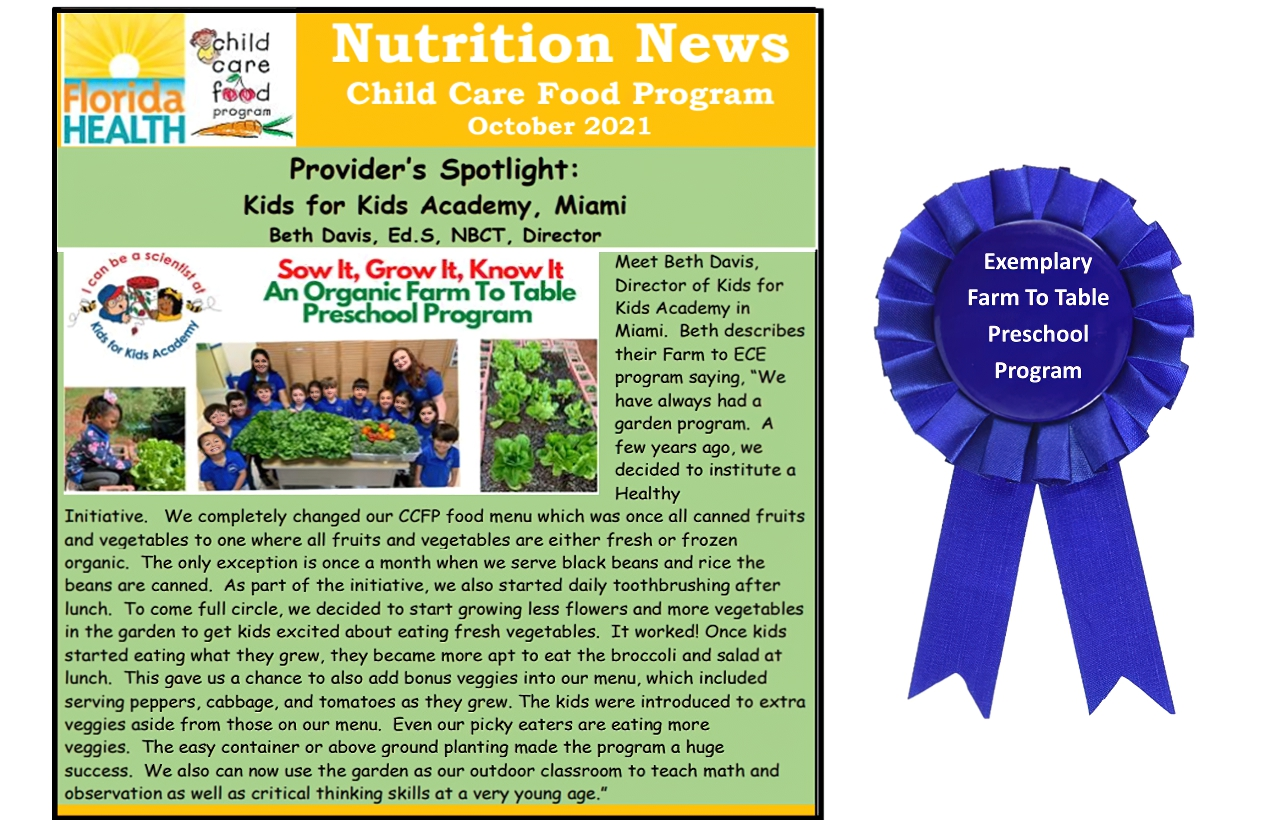 Farm to table month exemplary